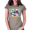 test card vintage retro colorful tv screen television Womens Fitted T-Shirt