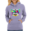 test card vintage retro colorful tv screen television Womens Hoodie