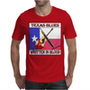 Texas Blues- Written In Blood Mens T-Shirt