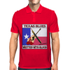 Texas Blues-Written With Blood Mens Polo