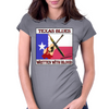 Texas Blues-Written With Blood Womens Fitted T-Shirt