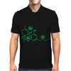 THC POT LEAF MOLECULE Mens Polo