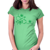 THC POT LEAF MOLECULE Womens Fitted T-Shirt