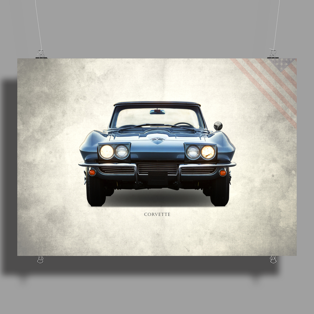 The 1964 Corvette Poster Print (Landscape)