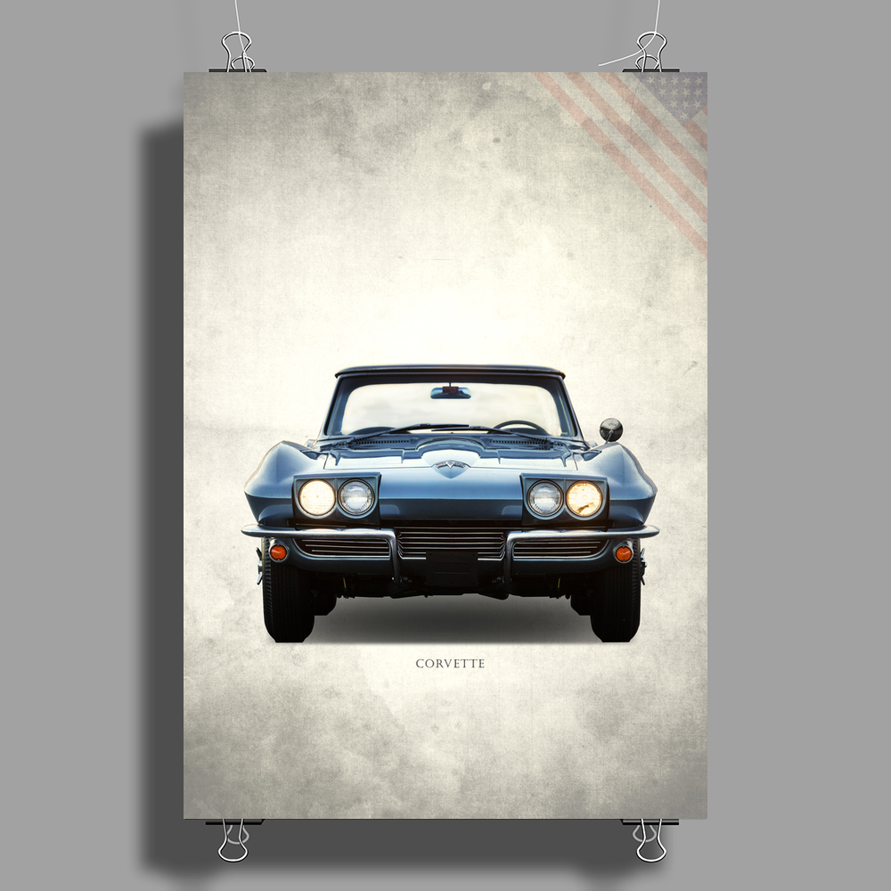 The 1964 Corvette Poster Print (Portrait)