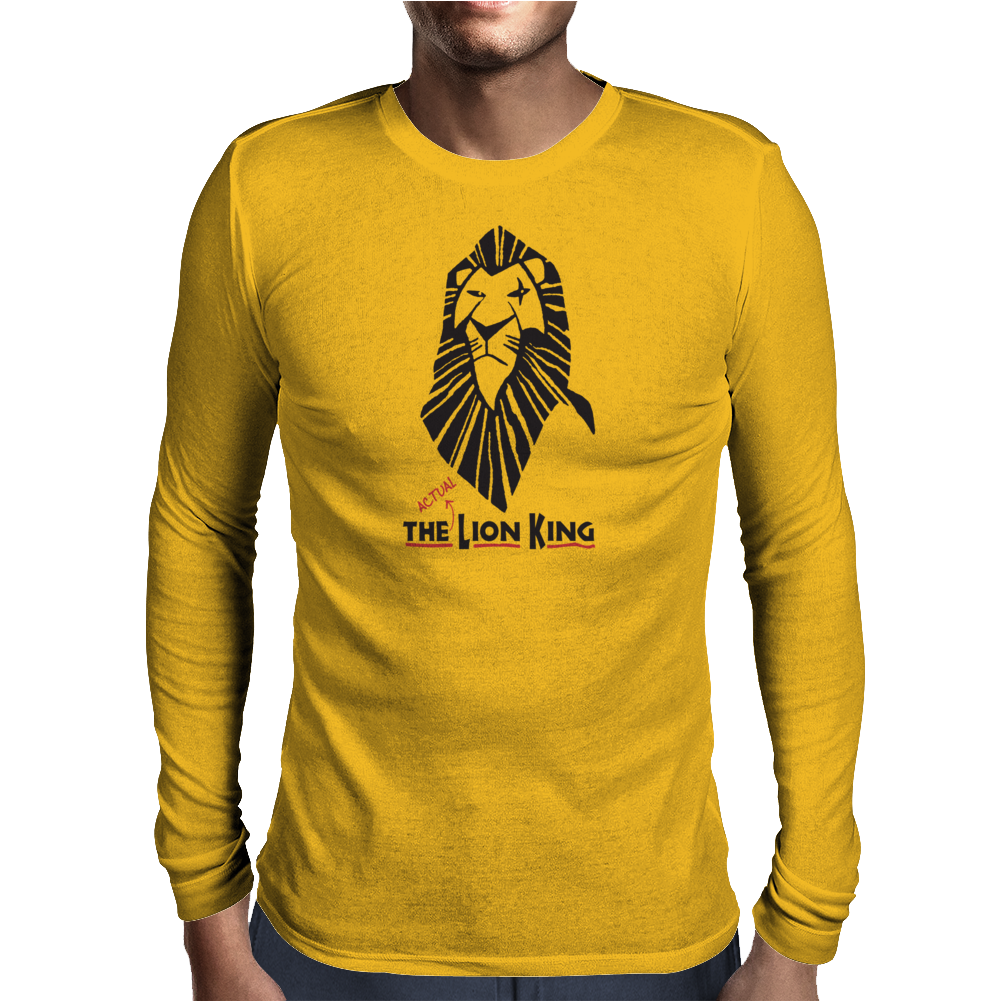 The actual Lion King Mens Long Sleeve T-Shirt