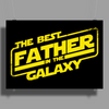 The best father in the galaxy Poster Print (Landscape)