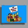 The Big Bang Theory Simpsonized - The Simpsons Parody - Big Bang Characters as Simpsons - BBT TBBT Poster Print (Landscape)