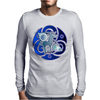The blue celtic unicorn Mens Long Sleeve T-Shirt