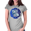 The blue celtic unicorn Womens Fitted T-Shirt