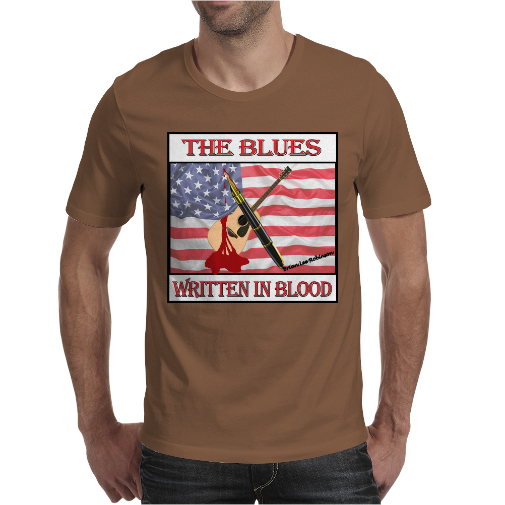 The Blues- Written In Blood Mens T-Shirt