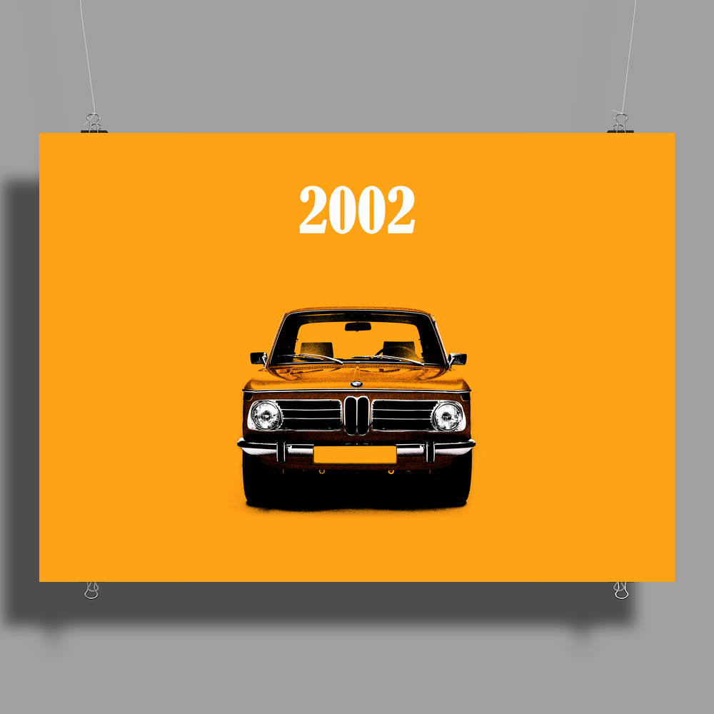 The BMW 2002 Poster Print (Landscape)
