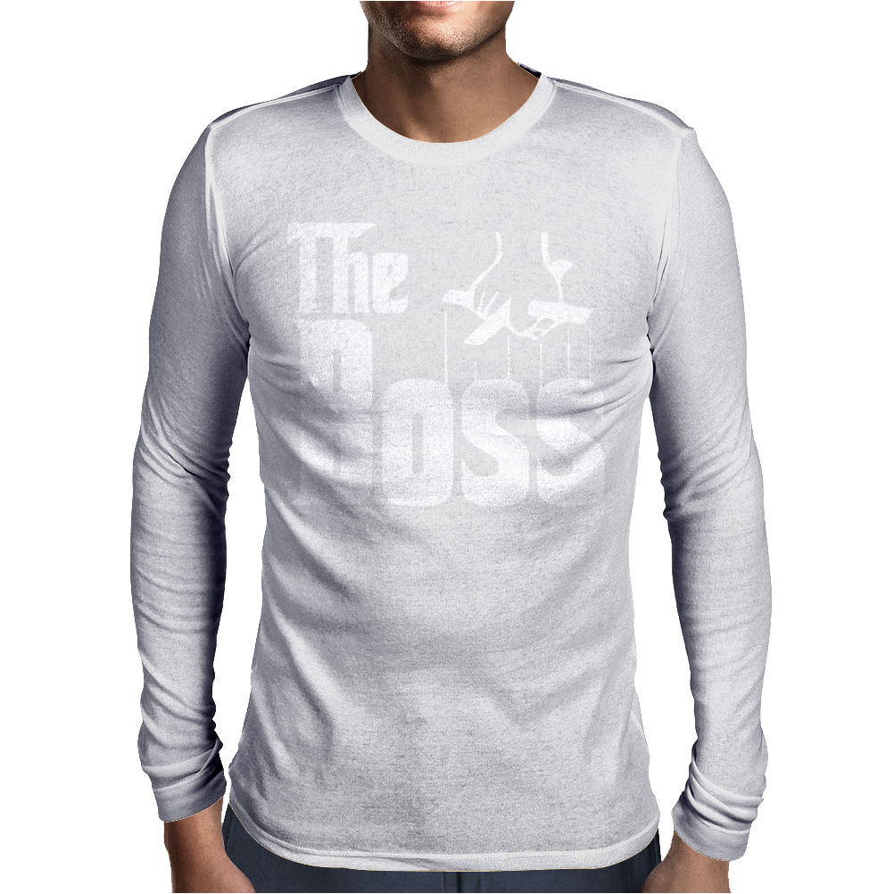 The Boss Gangster Funny Mens Long Sleeve T-Shirt