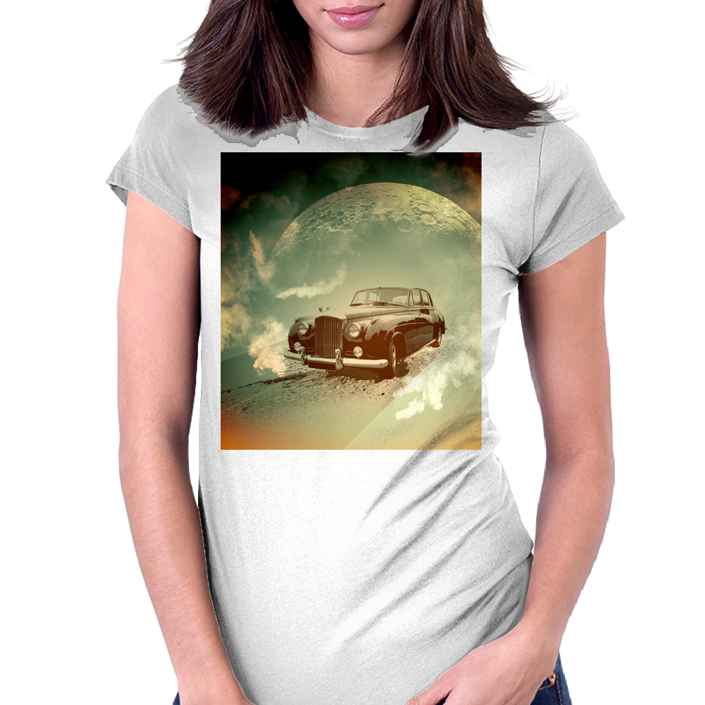 The car Womens Fitted T-Shirt