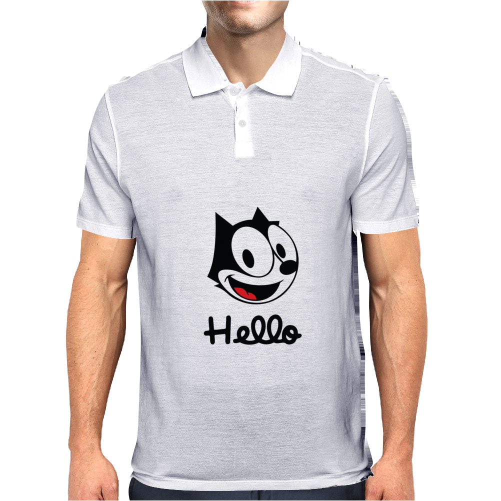 The cat named felix Mens Polo