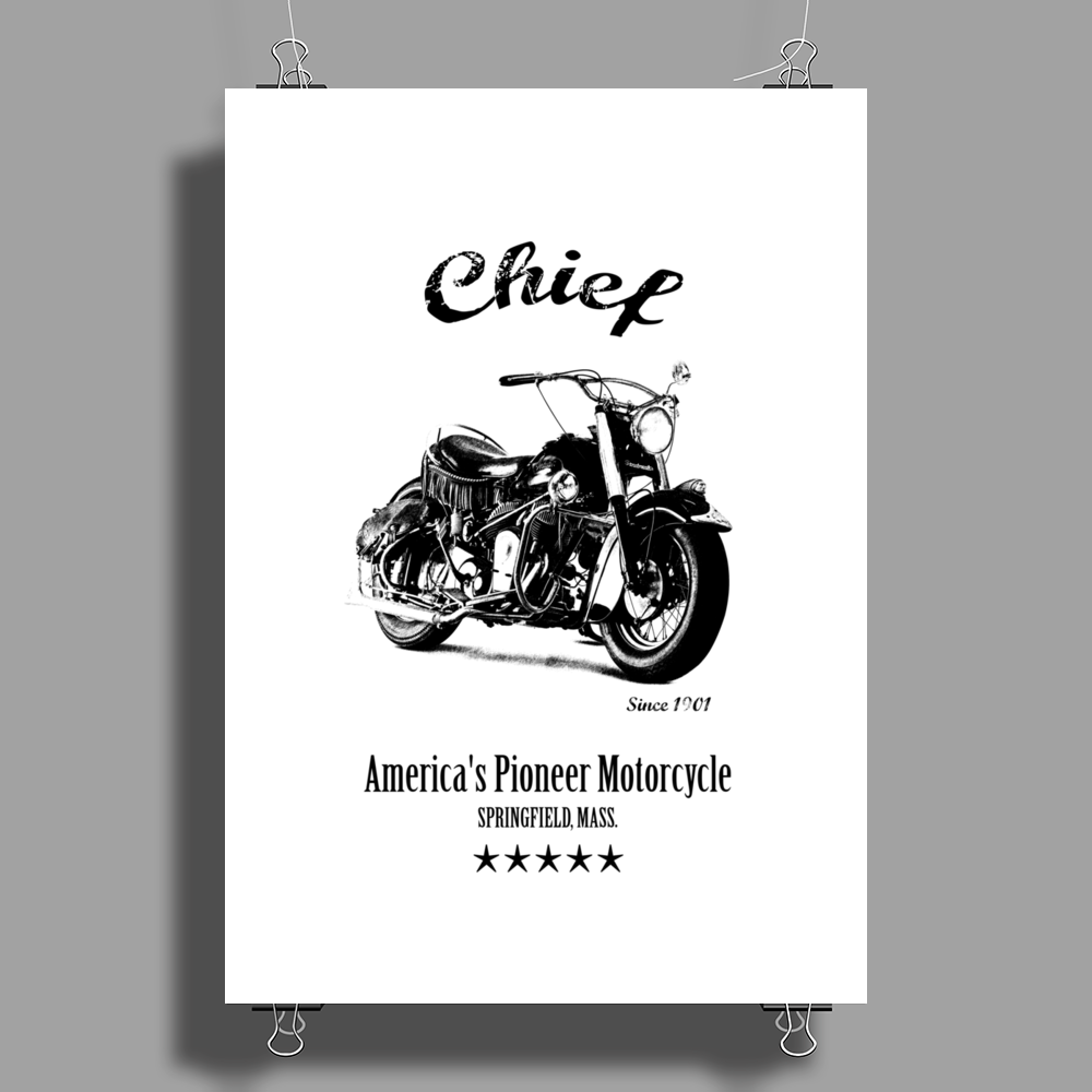 The Chief Motorcycle Poster Print (Portrait)