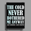 THE COLD NEVER BOTHERED ME ANYWAY Poster Print (Portrait)