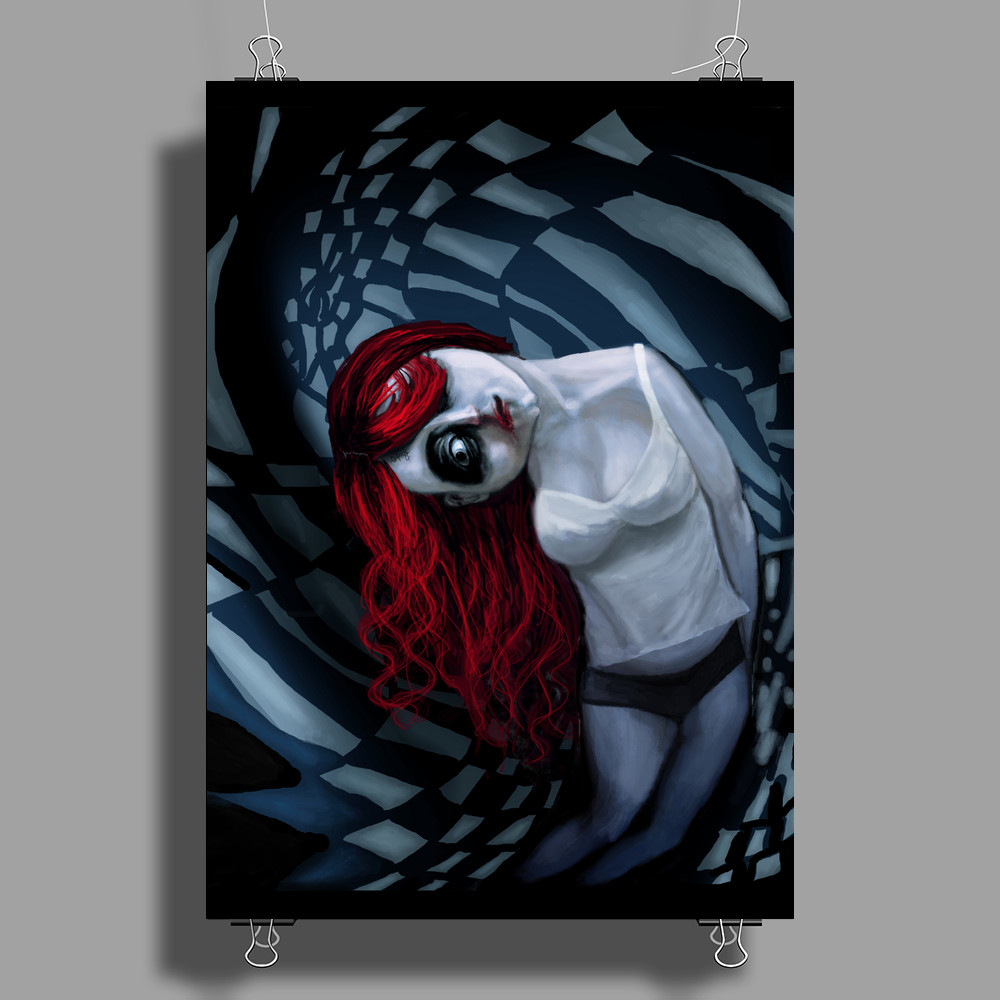 the dark side of my mind hurts by Rouble Rust Poster Print (Portrait)
