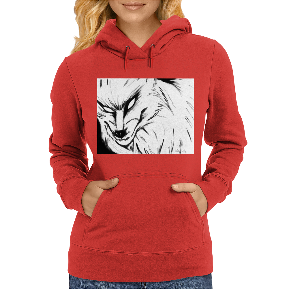 The Demon Wolf Womens Hoodie