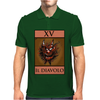 The Devil Tarot Card – number 15, Il Diavolo. Mens Polo