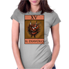 The Devil Tarot Card – number 15, Il Diavolo. Womens Fitted T-Shirt