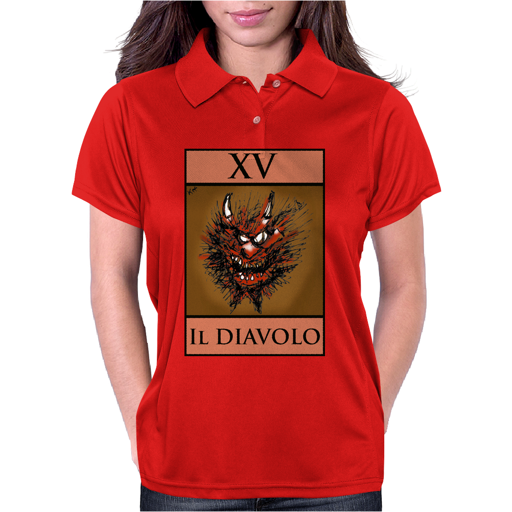 The Devil Tarot Card – number 15, Il Diavolo. Womens Polo