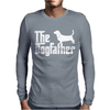 The Dogfather Basset Hound Mens Long Sleeve T-Shirt