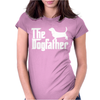 The Dogfather Basset Hound Womens Fitted T-Shirt