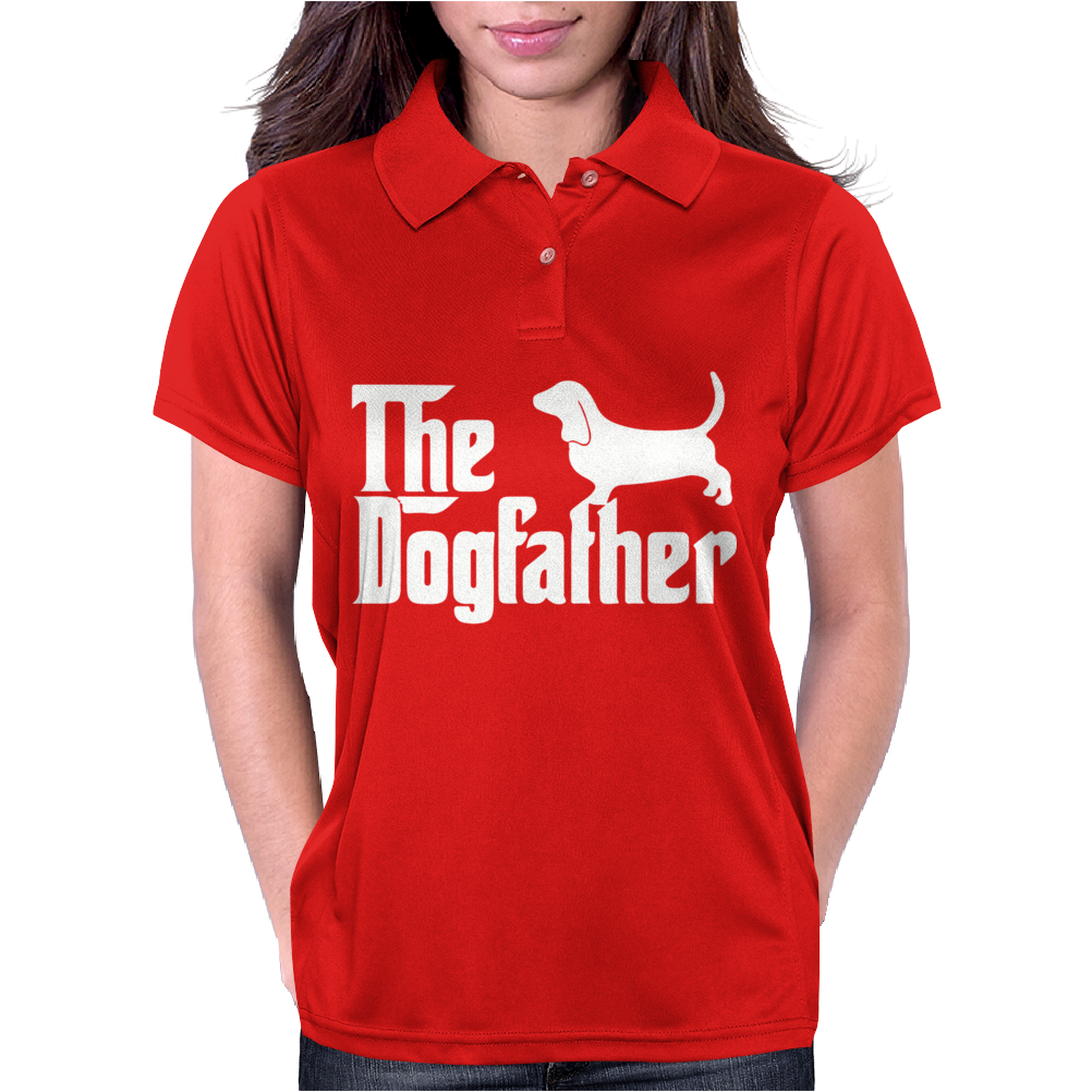 The Dogfather Basset Hound Womens Polo
