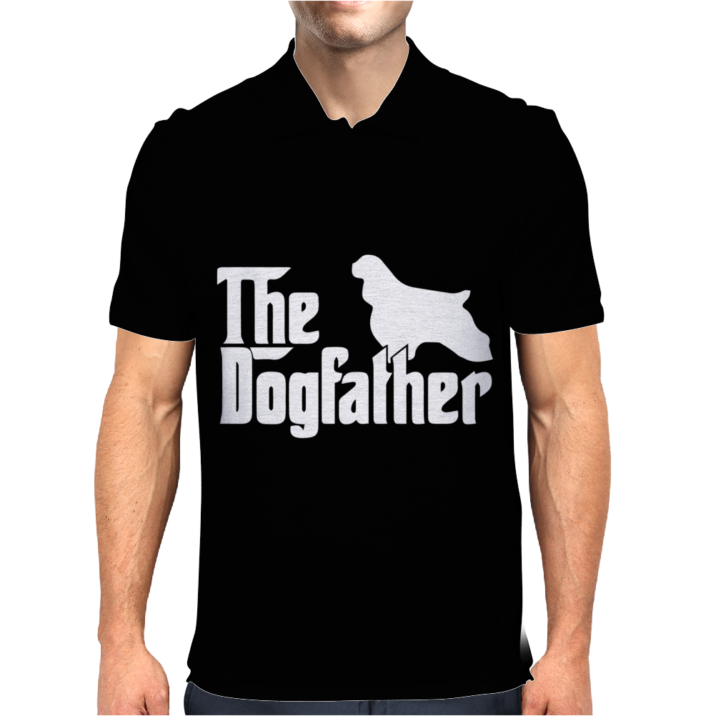The Dogfather Cocker Spaniel Mens Polo