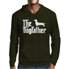 The Dogfather Dachshund Mens Hoodie