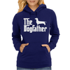 The Dogfather Dachshund Womens Hoodie