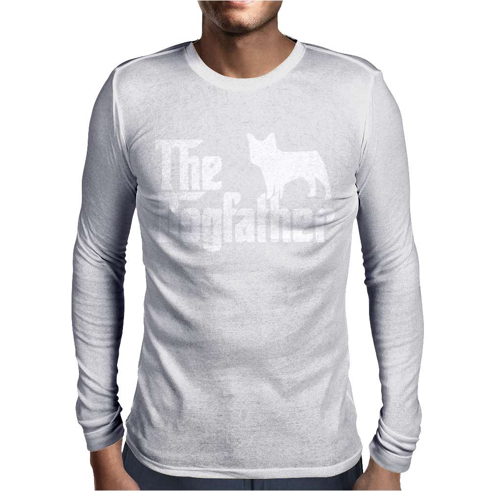 The Dogfather French Bulldog Mens Long Sleeve T-Shirt