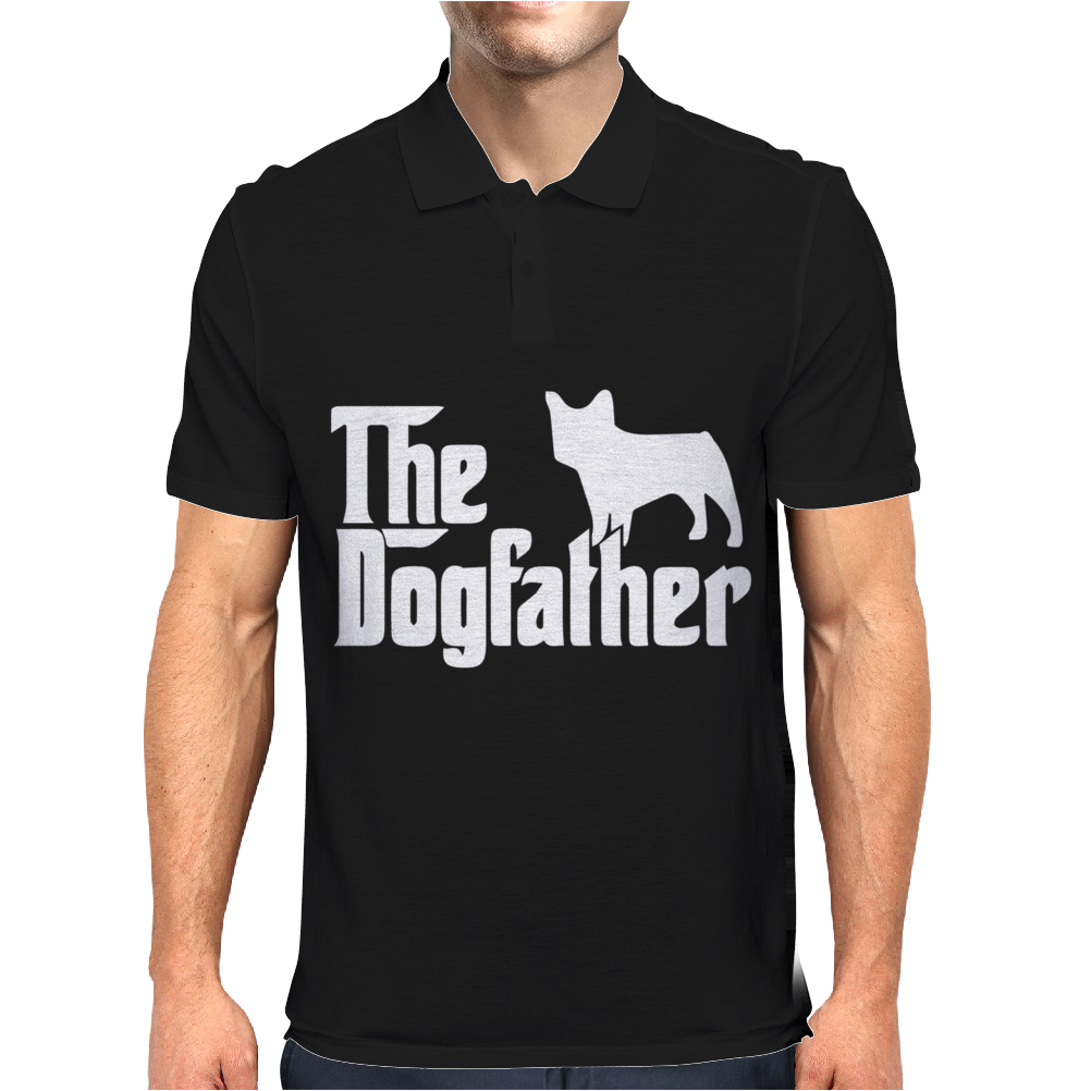The Dogfather French Bulldog Mens Polo