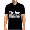 The Dogfather Golden Retriever Sleeveless Mens Polo