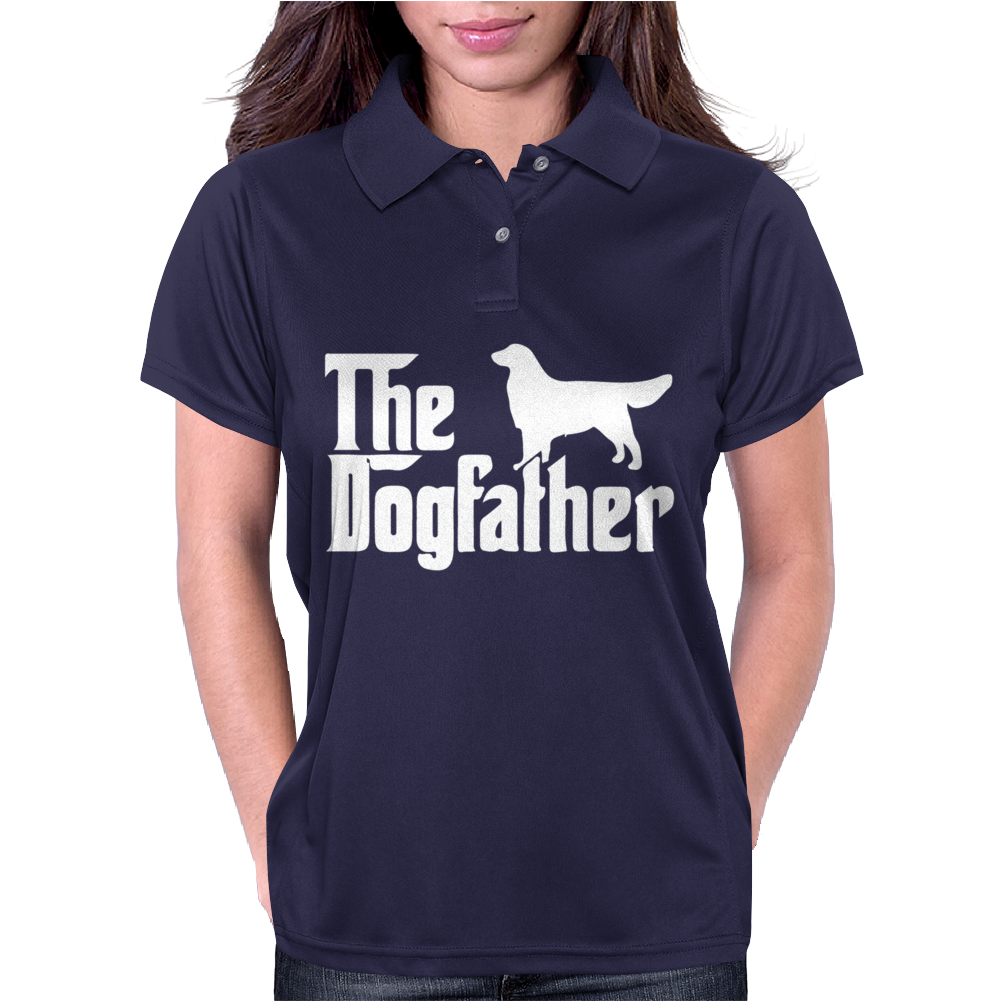 The Dogfather Golden Retriever Sleeveless Womens Polo