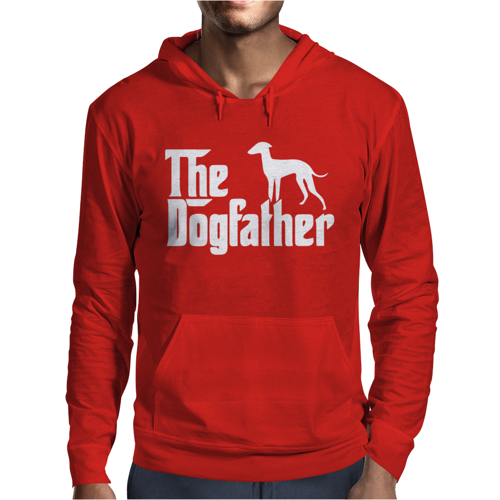The Dogfather Italian Greyhound Mens Hoodie