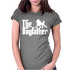 The Dogfather Poodle Womens Fitted T-Shirt