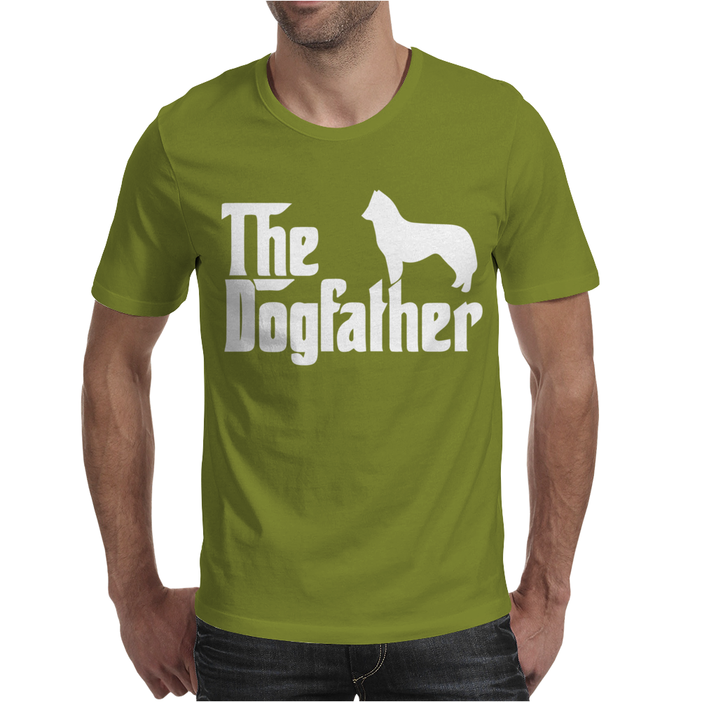 THE DOGFATHER Siberian Husky Swea Mens T-Shirt