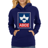 The Dude Abides Abide Big Lebowski Womens Hoodie
