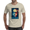 The Dude Abides Big Lebowski Abide Obama Poster Mens T-Shirt