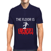 THE FLOOR IS LAVA Mens Polo