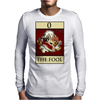 The Fool Tarot Card – number 0. Mens Long Sleeve T-Shirt