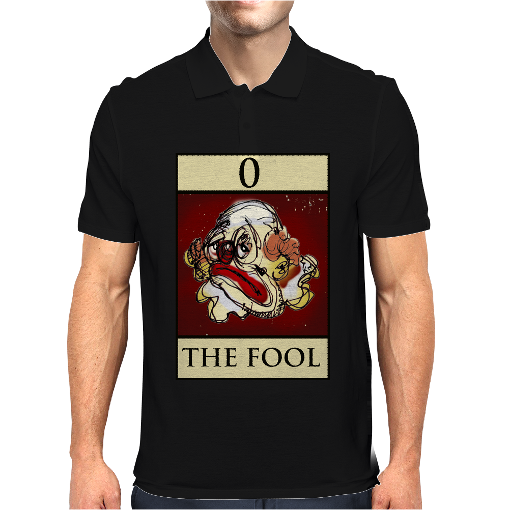 The Fool Tarot Card – number 0. Mens Polo