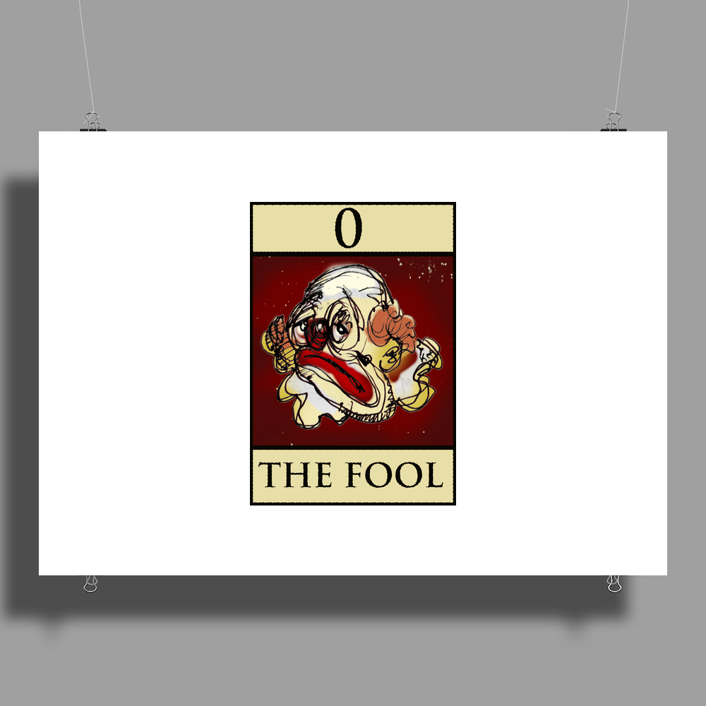 The Fool Tarot Card – number 0. Poster Print (Landscape)