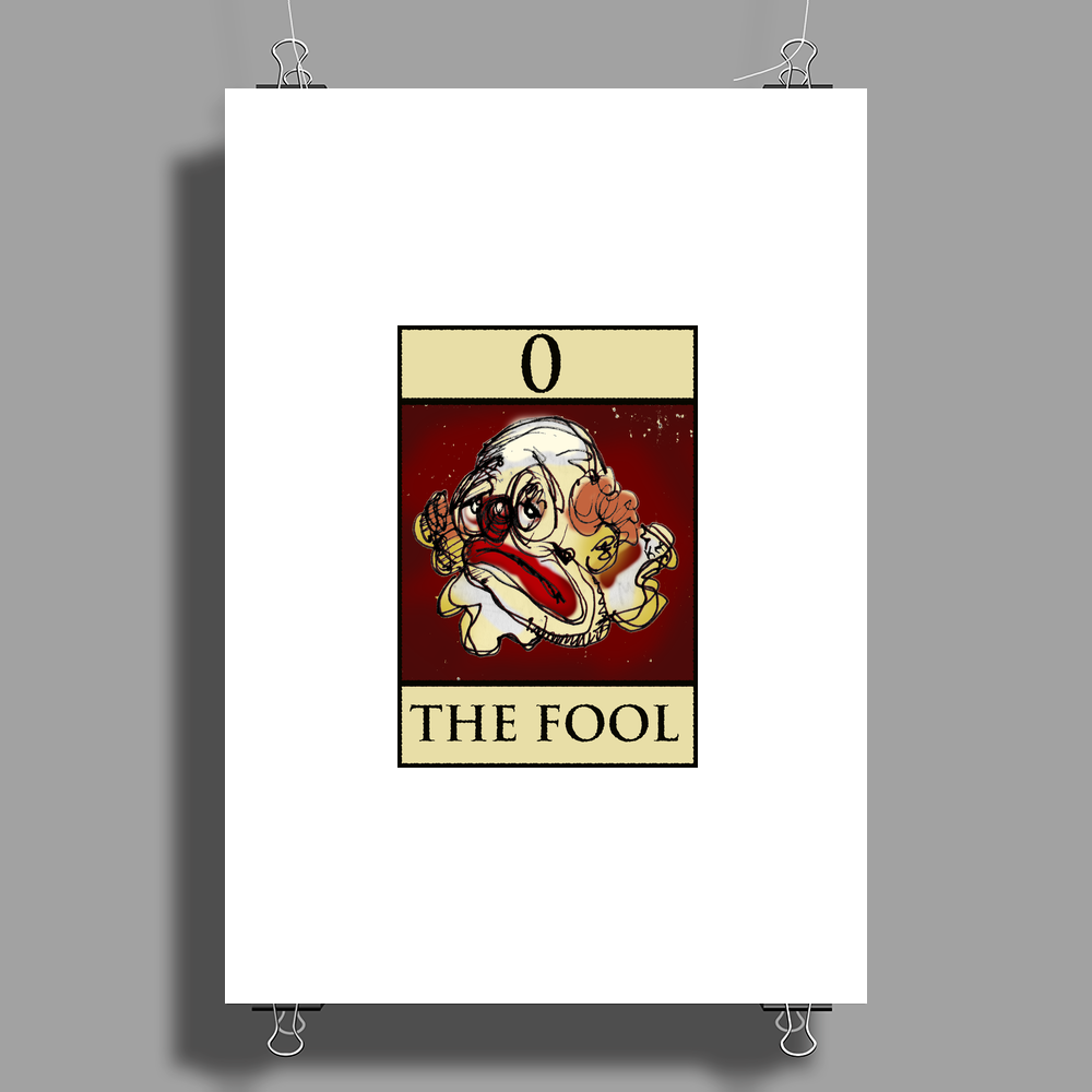 The Fool Tarot Card – number 0. Poster Print (Portrait)