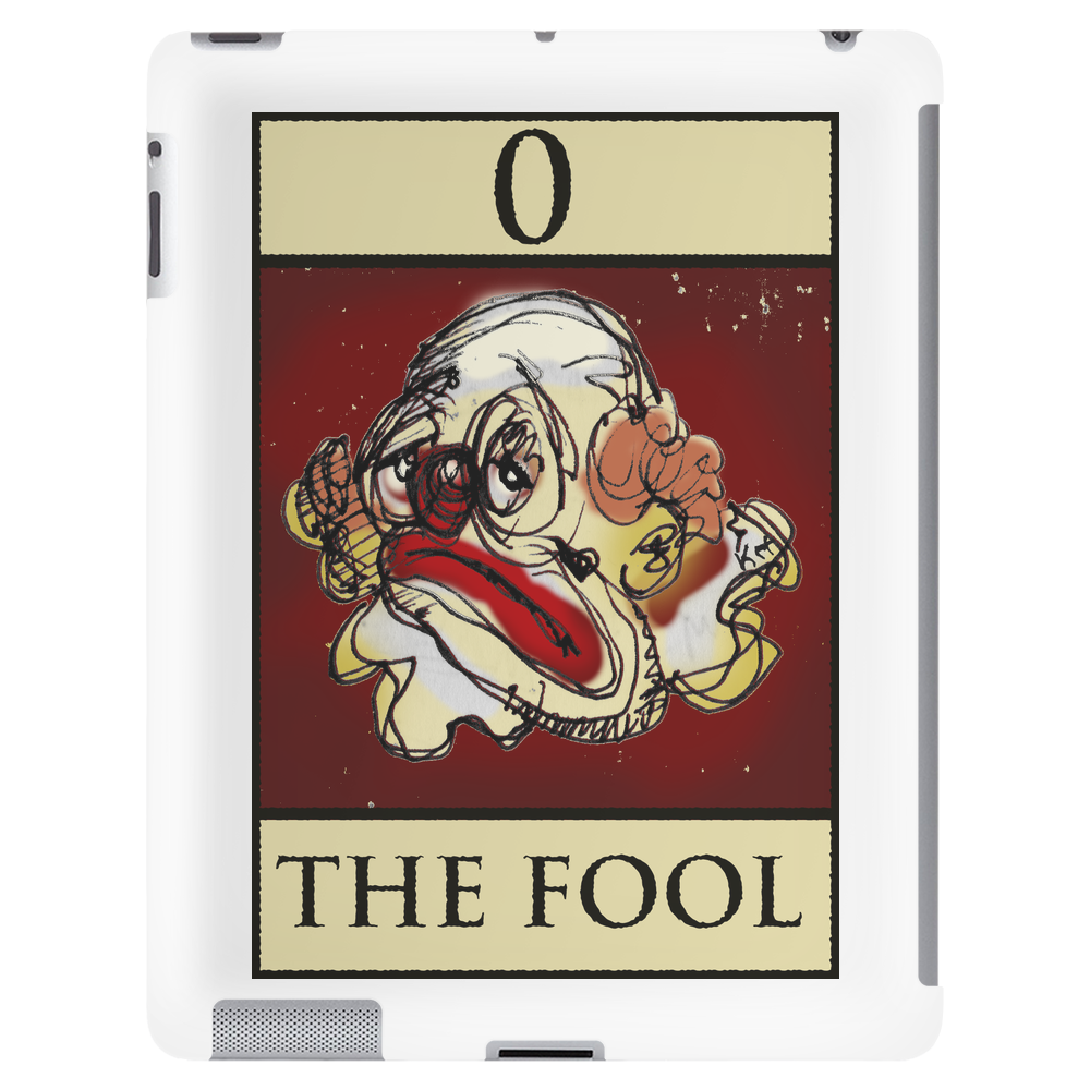 The Fool Tarot Card – number 0. Tablet
