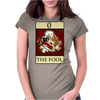The Fool Tarot Card – number 0. Womens Fitted T-Shirt