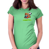 The Football Bear Womens Fitted T-Shirt