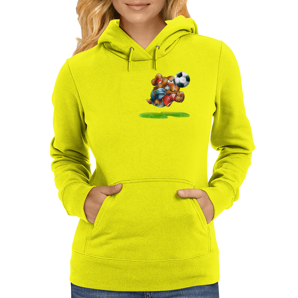 The Football Bear Womens Hoodie